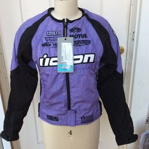Icon Stage II Merc motorcycle riding jacket